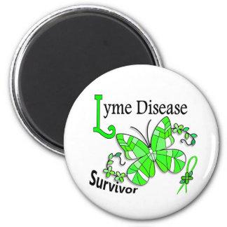 Enfermedad de Lyme del superviviente 6 Imán Redondo 5 Cm