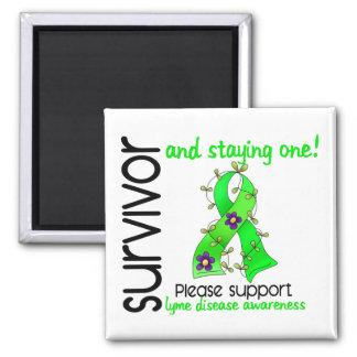 Enfermedad de Lyme del superviviente 9 Imán Cuadrado