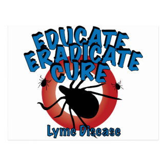 Enfermedad de Lyme - eduque suprima cure Postales