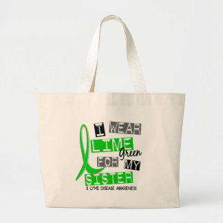 Enfermedad de Lyme llevo la verde lima para mi Bolsa Tela Grande