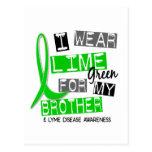 Enfermedad de Lyme llevo la verde lima para mi Bro Postales