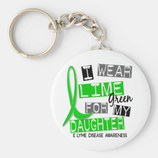 Enfermedad de Lyme llevo la verde lima para mi hij Llaveros Personalizados