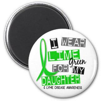 Enfermedad de Lyme llevo la verde lima para mi Imán Redondo 5 Cm