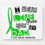 Enfermedad de Lyme llevo la verde lima para mi pap Alfombrillas De Ratones