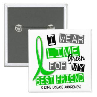 Enfermedad de Lyme llevo la verde lima para mi Pin Cuadrado