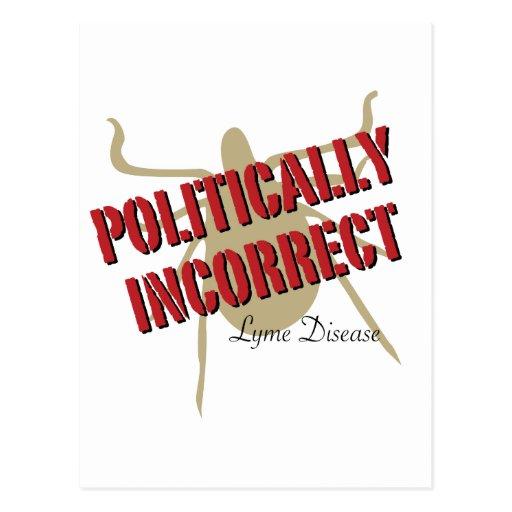 Enfermedad de Lyme - político incorrecta Postales