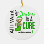 Enfermedad de Lyme toda lo que quiero para los orn Adornos De Navidad