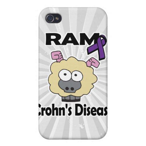 Enfermedad de RAM Crohns (púrpura) iPhone 4 Cárcasa
