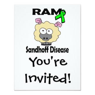 """Enfermedad de RAM Sandhoff Invitación 4.25"""" X 5.5"""""""