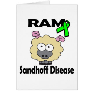 Enfermedad de RAM Sandhoff Tarjeta De Felicitación