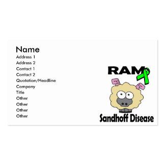 Enfermedad de RAM Sandhoff Tarjetas De Visita