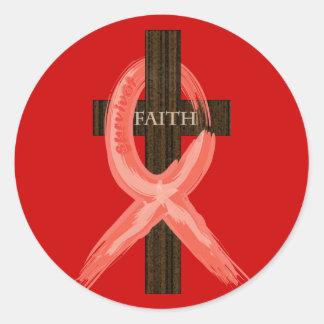 Enfermedad de RedHeart/cinta del SIDA/VIH Pegatina Redonda