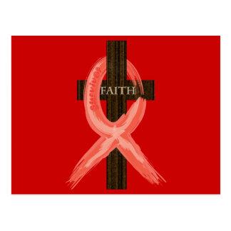 Enfermedad de RedHeart/cinta del SIDA/VIH Tarjeta Postal
