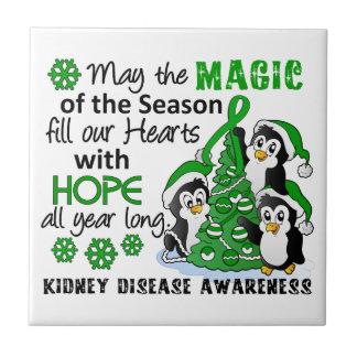Enfermedad de riñón de los pingüinos del navidad azulejo