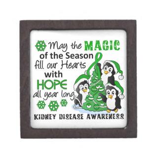 Enfermedad de riñón de los pingüinos del navidad caja de regalo de calidad