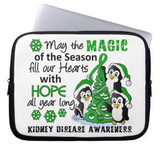 Enfermedad de riñón de los pingüinos del navidad funda computadora