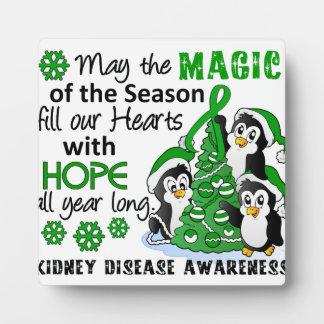 Enfermedad de riñón de los pingüinos del navidad placa