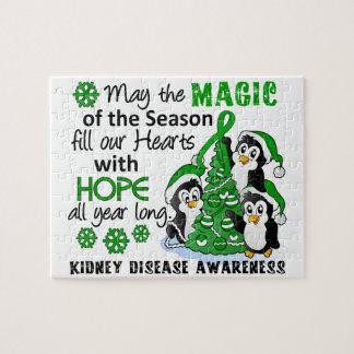 Enfermedad de riñón de los pingüinos del navidad puzzles con fotos