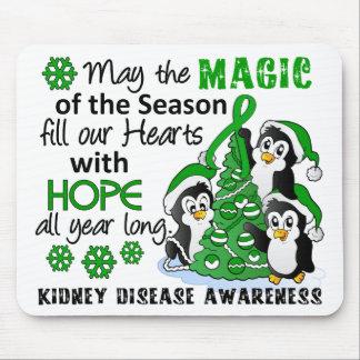 Enfermedad de riñón de los pingüinos del navidad alfombrilla de ratón