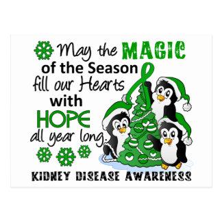 Enfermedad de riñón de los pingüinos del navidad postales