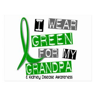 Enfermedad de riñón llevo el verde para mi abuelo tarjetas postales