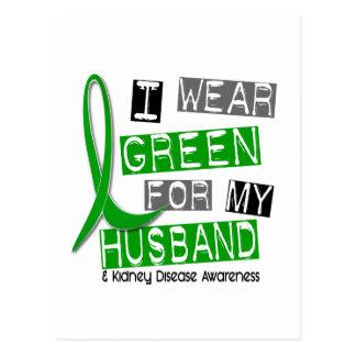 Enfermedad de riñón llevo el verde para mi marido postales