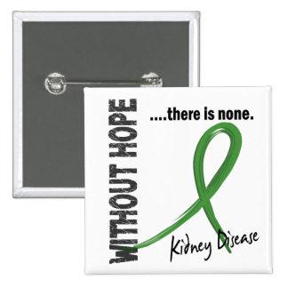 Enfermedad de riñón sin la esperanza 1 pin cuadrado