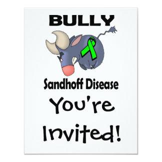 """Enfermedad de Sandhoff del matón Invitación 4.25"""" X 5.5"""""""
