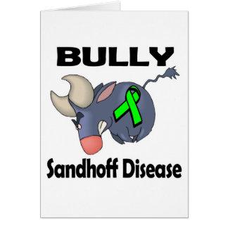 Enfermedad de Sandhoff del matón Tarjeta De Felicitación