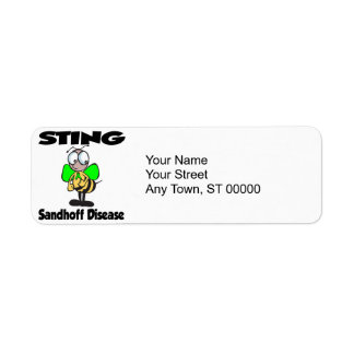 Enfermedad de STING Sandhoff Etiqueta De Remite