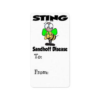Enfermedad de STING Sandhoff Etiquetas De Dirección