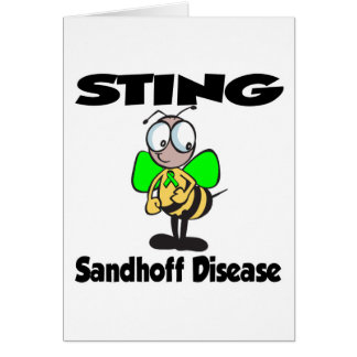 Enfermedad de STING Sandhoff Tarjeta De Felicitación