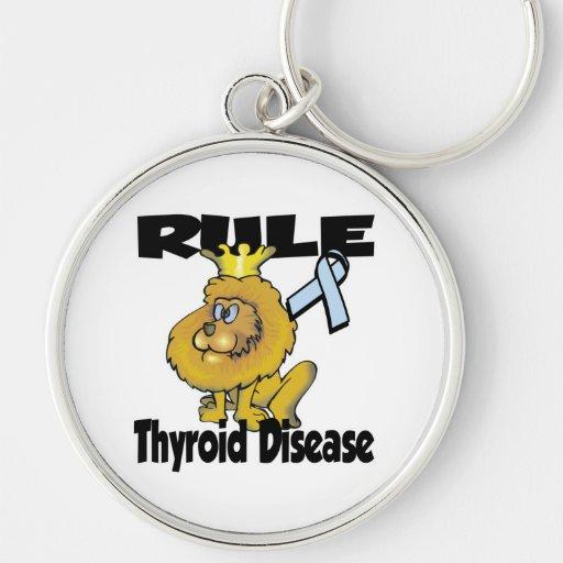 Enfermedad de tiroides de la regla llavero personalizado