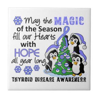 Enfermedad de tiroides de los pingüinos del navida teja cerámica