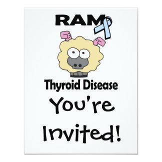 Enfermedad de tiroides de RAM Invitaciones Personalizada