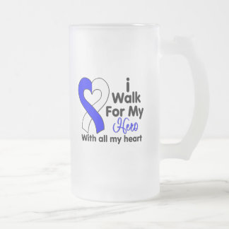Enfermedad del ALS camino para mi héroe 2 Taza Cristal Mate