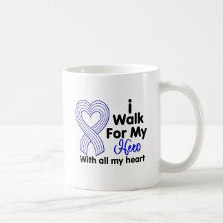 Enfermedad del ALS camino para mi héroe Taza Básica Blanca