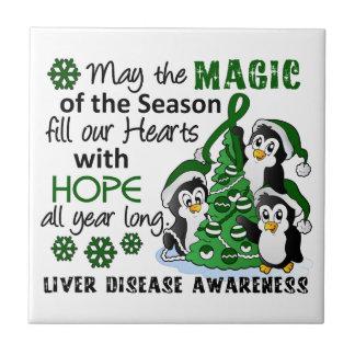 Enfermedad del higado de los pingüinos del navidad azulejos
