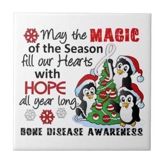 Enfermedad del hueso de los pingüinos del navidad azulejos