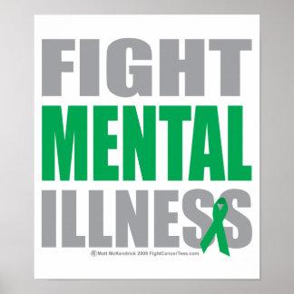Enfermedad mental de la lucha póster