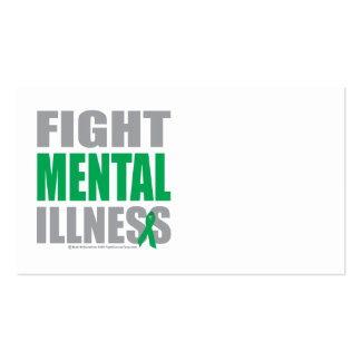 Enfermedad mental de la lucha tarjetas de negocios