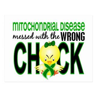 Enfermedad mitocondrial ensuciada con el polluelo postales