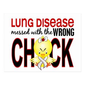 Enfermedad pulmonar ensuciada con el polluelo tarjetas postales