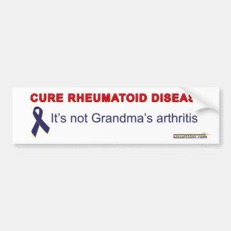 Enfermedad reumatoide de la curación pegatina para auto