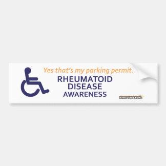 Enfermedad reumatoide de la silla de ruedas pegatina para auto
