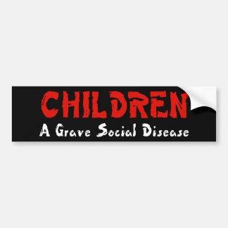 Enfermedad social de los niños pegatina para auto