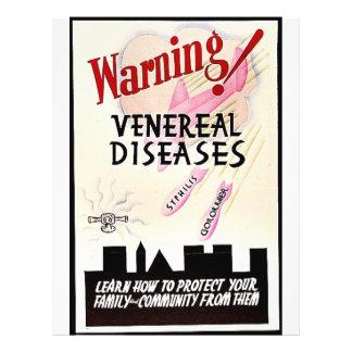 """Enfermedades venéreas amonestadoras folleto 8.5"""" x 11"""""""