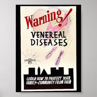 Enfermedades venéreas amonestadoras póster