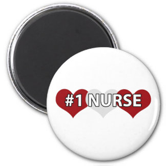 Enfermera #1 imán redondo 5 cm