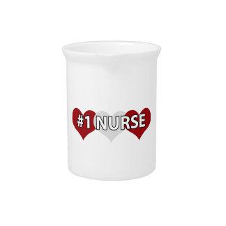 Enfermera #1 jarras para bebida